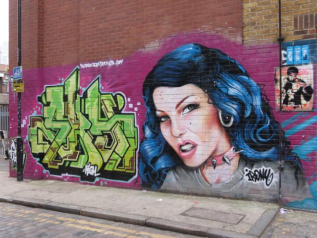 Shoreditch street art - Irony