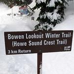 Bowen Lookout Winter Trail (Howe Sound Crest Trail)