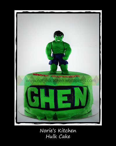 Norie's Kitchen - Hulk Cake by Norie's Kitchen
