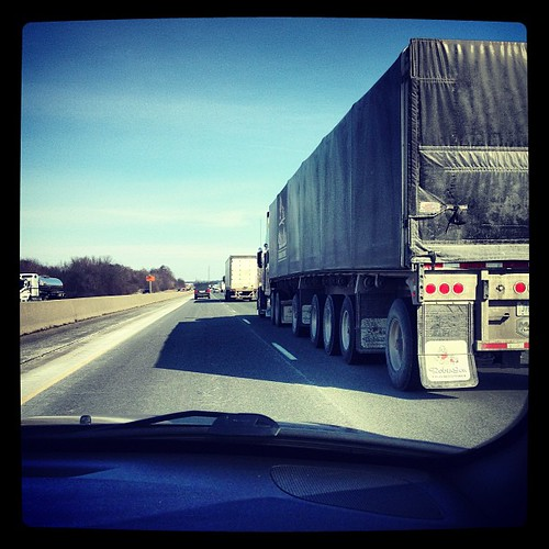Feb 18 - something you don't like {passing big trucks on the highway} #fmsphotoaday #driving