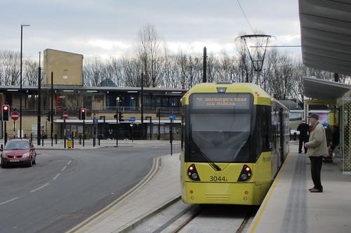 Rochdale tram station, towards railway station