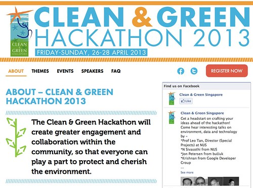 About – Clean & Green Hackathon 2013