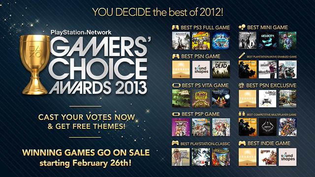 PSN Gamers' Choice Awards 2013