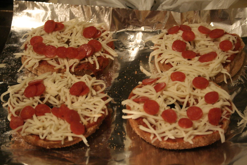 Bagel Pizzas | Lazy Lady