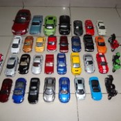 My Die-Cast Cars & Bikes Collection ~ Front Top Aerial View