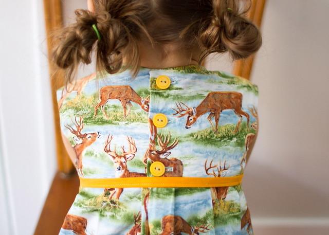deer for days geranium dress
