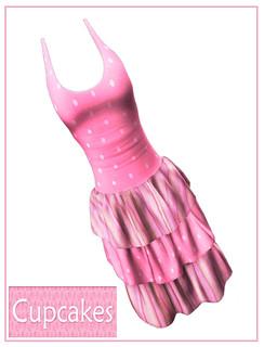 Cupcakes - KawaiiDress-Pink - My Attic @ The Deck