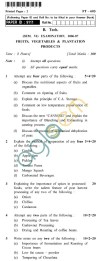 UPTU B.Tech Question Papers -FT-603 - Fruits, Vegetables & Plantation Products