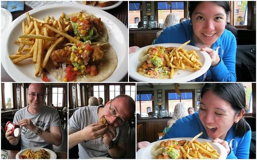 fish tacos at Crabby Joe's