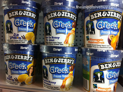 New Ben & Jerry's Greek Frozen Yogurt