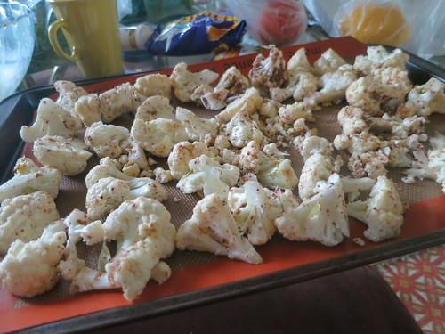 Roasted and spiced crispy cauliflower