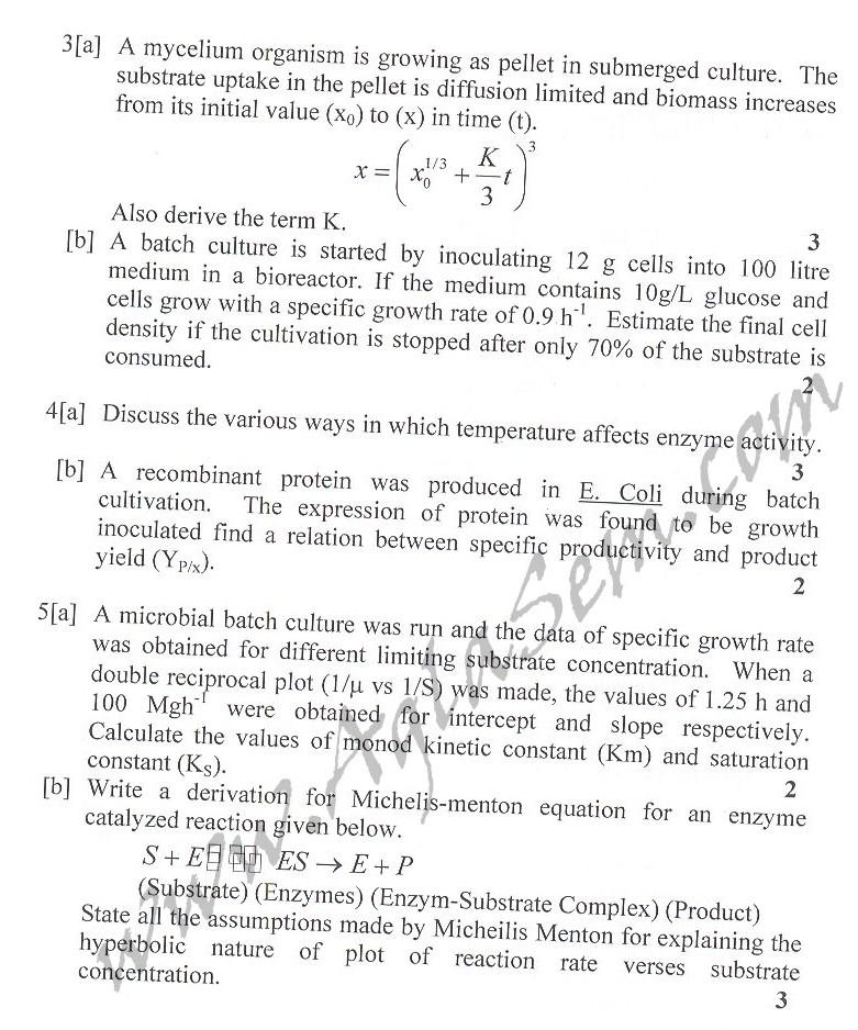 DTU Question Papers 2010 – 6 Semester - Mid Sem - BT-315