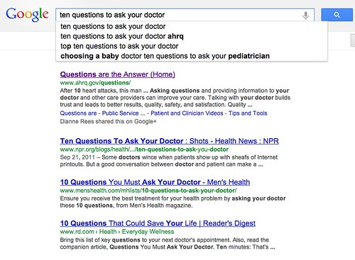 Ten questions to ask your doctor