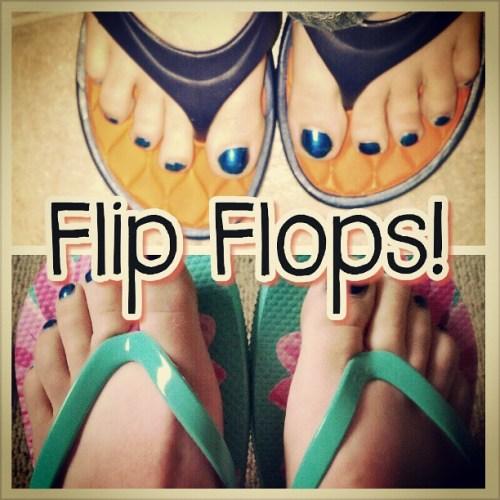 I love flip flops #OP #Walmart #shopping #shoes #toocute #summer #autismawareness #blueforGavin #blueforZach