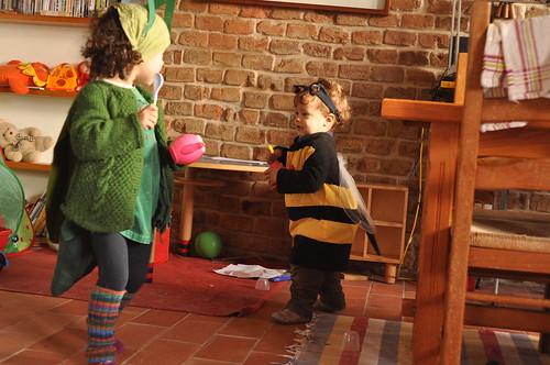 gafanhoto e abelha
