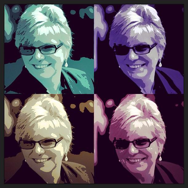 Apr 9 - selfie {channelling my inner Warhol} #photoaday #selfie