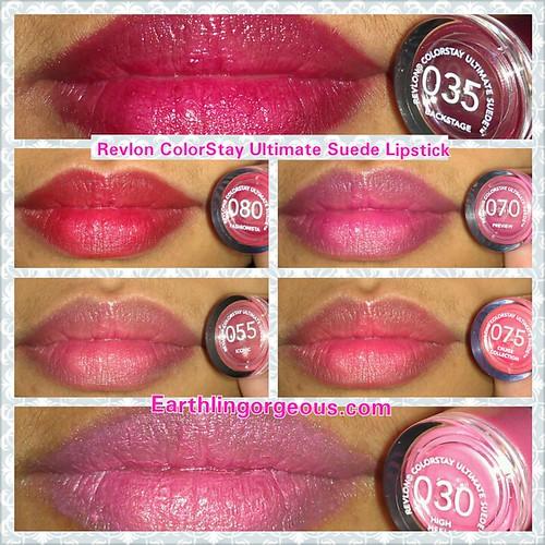 Revlon ColorStay Ultimate Suede Lipstick 035 080 070 055 075 030