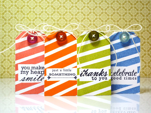 Striped Tags