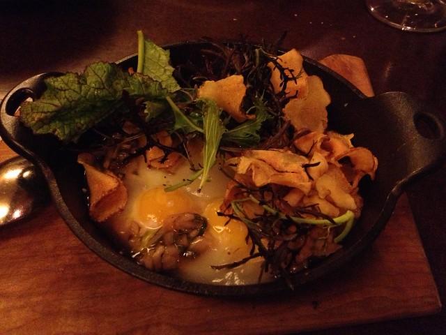 Cast iron quail eggs - State Bird Provisions