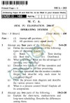 UPTU MCA Question Papers - MCA-242 - Operating System