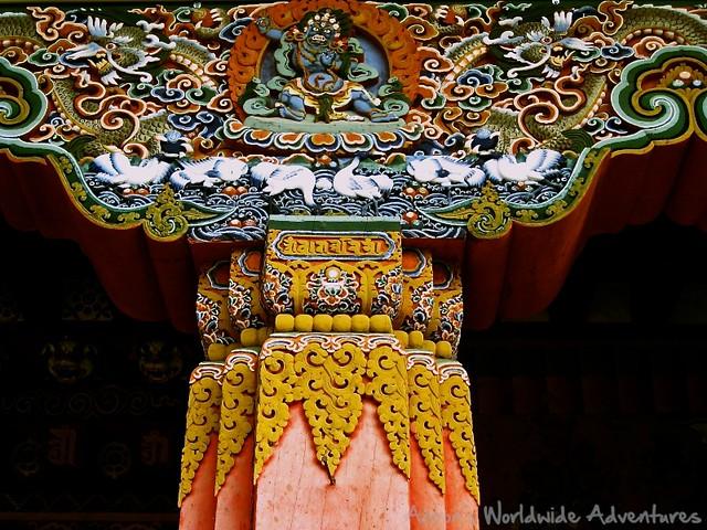 Carvings at Trongsa Dzong