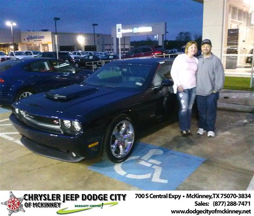 Congratulations to James Waldron on the 2013 Dodge Challenger by Dodge City McKinney Texas