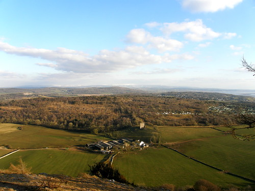 Arnside Tower, Middlebarrow, Warton Crag, Bowland Fells from Arnside Knott