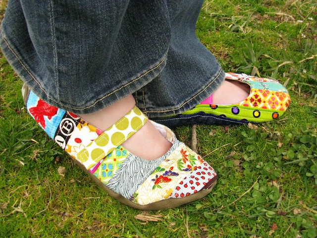 Handmade Quilted Shoes Right