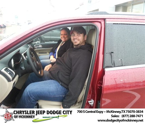 Dodge City of McKinney would like to say Congratulations to Julia Johnson on the 2014 Jeep Grand Cherokee by Dodge City McKinney Texas