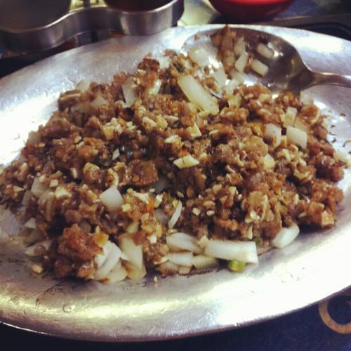A taste of pork sisig in #NewYork #foodporn #iPhone