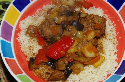 Merguez-spiced meatballs with couscous by La belle dame sans souci