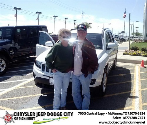 Dodge City of McKinney would like to say Congratulations to John Rubertus on the 2014 Jeep Compass by Dodge City McKinney Texas