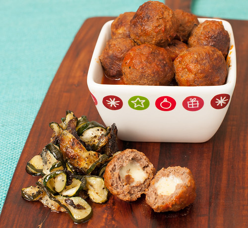 Meat Balls stuffed with Mozzarella