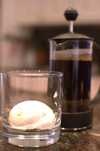 Coconut affogato
