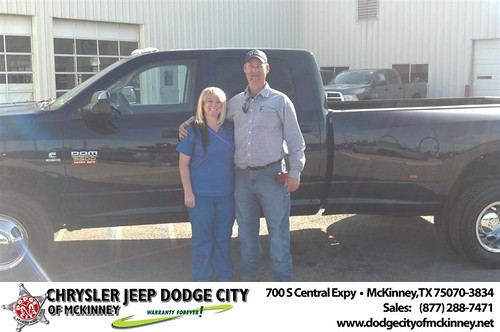 Dodge City of McKinney would like to say Congratulations to Theresa Boydstun on the 2012 Dodge Ram by Dodge City McKinney Texas