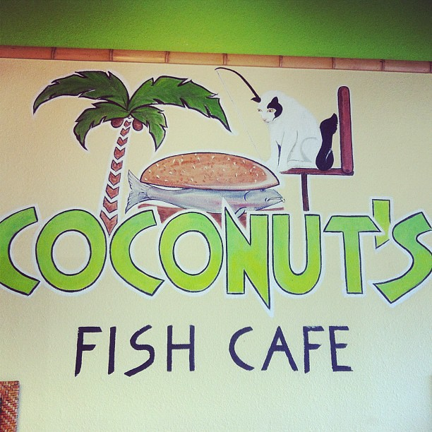 The original Coconut's Fish Cafe. And per my usual I had the fish tacos with its 17 delish ingredients #stuffed #foodie #fishtacos