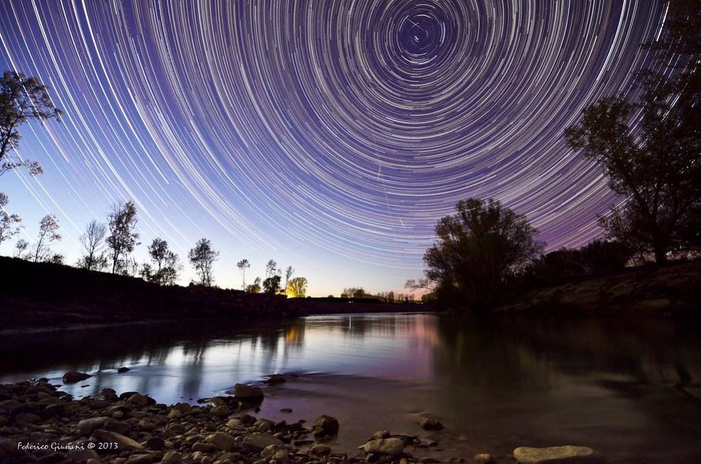 Il fiume Ombrone alla steccaia.. sotto le stelle