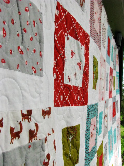 Grandma Tell Me a Story Quilt Side View