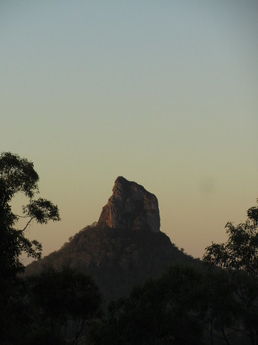 glass house mountains at dusk 4
