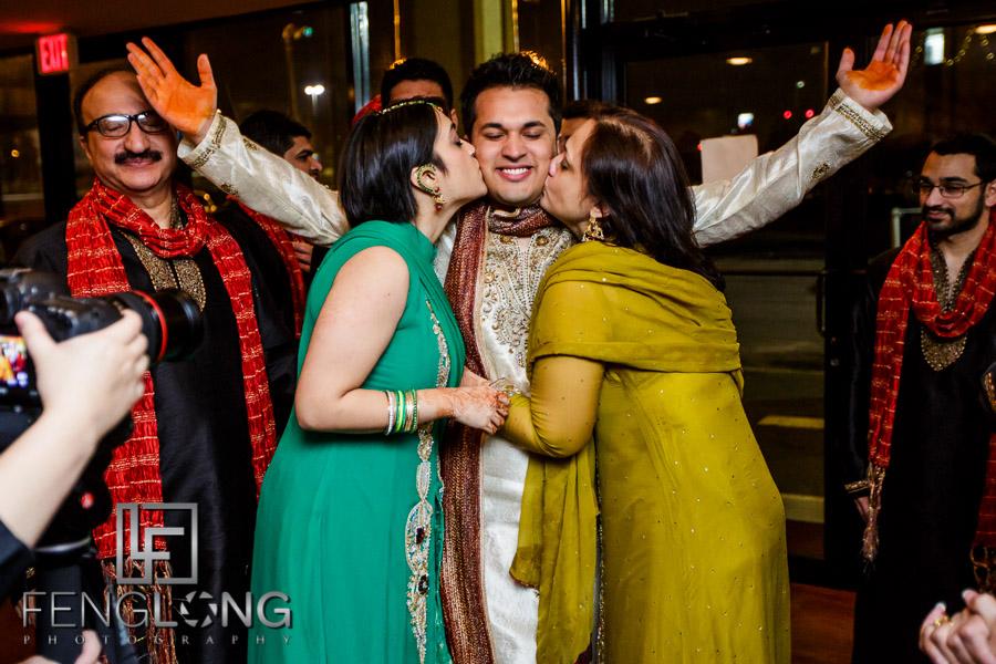 Indian groom entering during Sangeet
