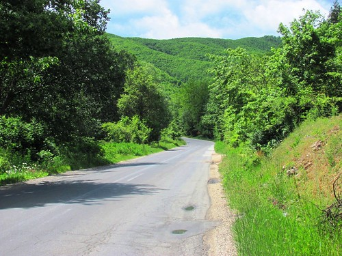 Road from Bitola to Ohrid, Macedonia