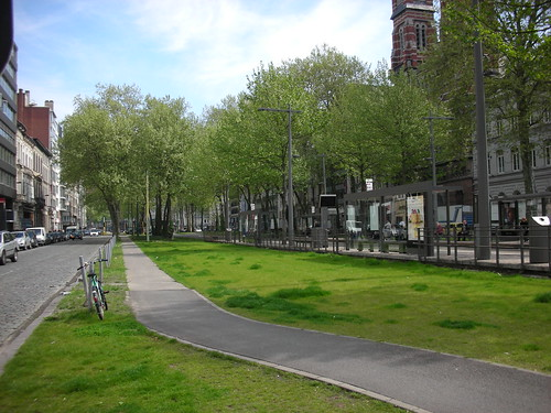 A multi-lane boulevard in Antwerp