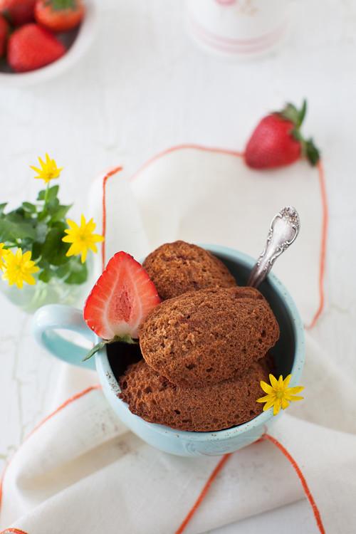 Strawberry Madeleines 4