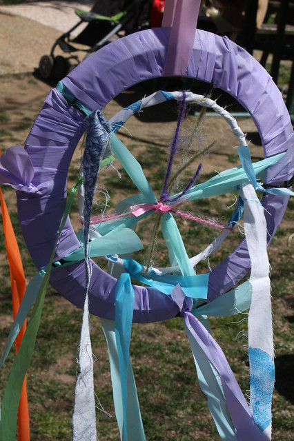 A community art project: making beautiful wheels however you liked. they'll be part of an installation next month