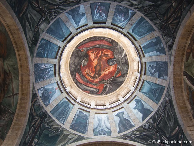 Mural by José Clemente Orozco in the Chapel's dome