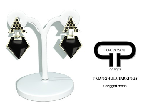 Pure Poison - Trianghula Earrings