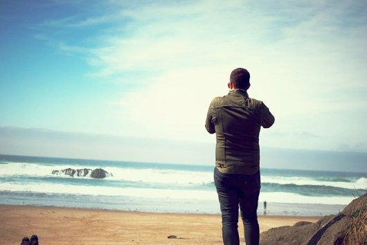 Joel at the Oregon Coast