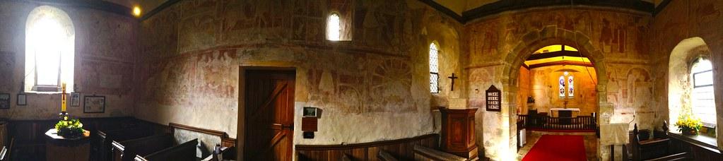 St Botolph's Hardham, panorama