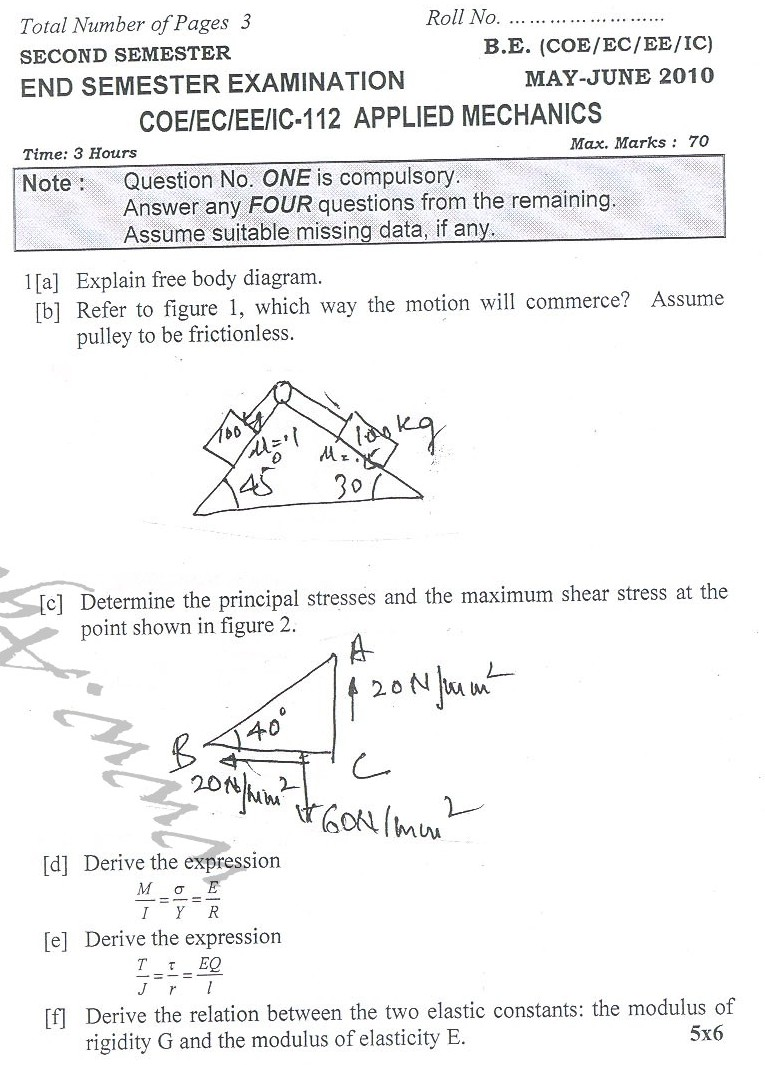 DTU Question Papers 2010 – 2 Semester - End Sem - COE-EC-EE-IC-112