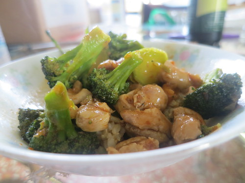 Sweet chili chicken and broccoli stir fry